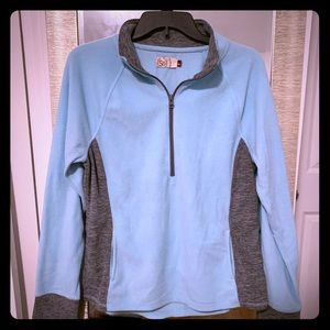 Quarter zip fleece jacket